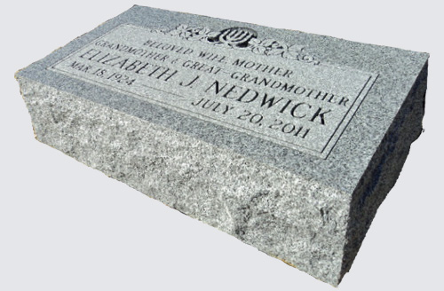 Designs, Prices, Ordering Info for Bevel Grave Markers
