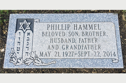 Pictures Of Flat Granite Grave Markers With Jewish Symbolism For Spouses
