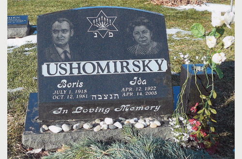 Jewish Slant Face Grave Marker Designs Featuring Etched